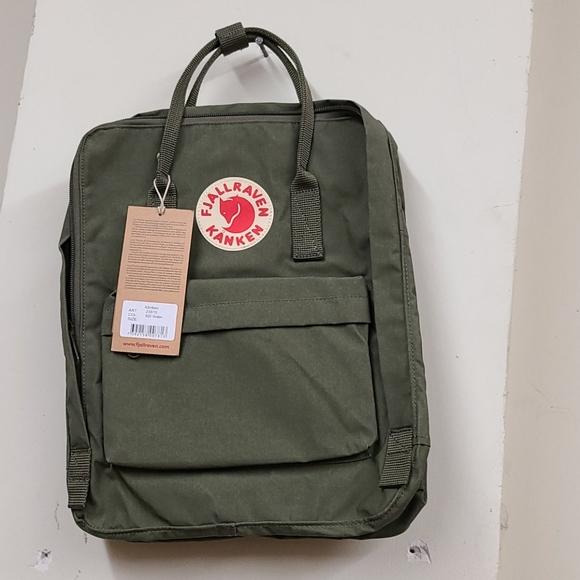 Fjallraven Handbags - Fjallraven Kanken Backpack Green